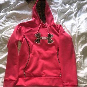 Pink and camo sweatshirt